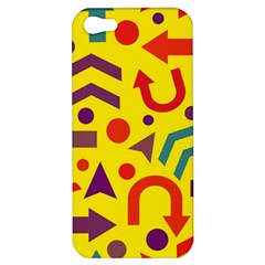 Yellow Direction Apple Iphone 5 Hardshell Case by Valentinaart