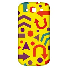 Yellow Direction Samsung Galaxy S3 S Iii Classic Hardshell Back Case by Valentinaart