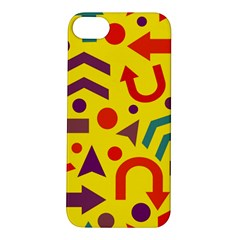 Yellow Direction Apple Iphone 5s/ Se Hardshell Case by Valentinaart