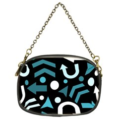 Cyan Direction  Chain Purses (one Side)  by Valentinaart