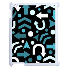 Cyan Direction  Apple Ipad 2 Case (white) by Valentinaart