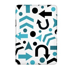 Cyan Direction Pattern Samsung Galaxy Tab 2 (10 1 ) P5100 Hardshell Case  by Valentinaart