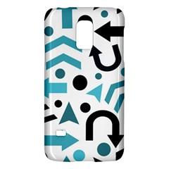 Cyan Direction Pattern Galaxy S5 Mini by Valentinaart