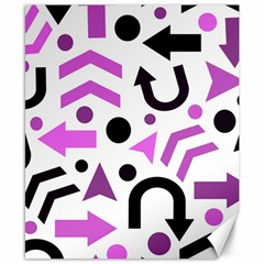 Magenta Direction Pattern Canvas 8  X 10  by Valentinaart