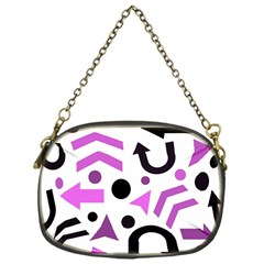 Magenta Direction Pattern Chain Purses (one Side)  by Valentinaart