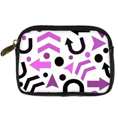 Magenta Direction Pattern Digital Camera Cases by Valentinaart