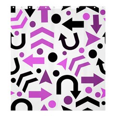Magenta Direction Pattern Shower Curtain 66  X 72  (large)  by Valentinaart