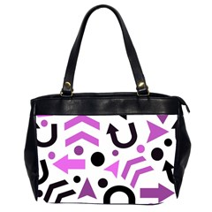 Magenta Direction Pattern Office Handbags (2 Sides)  by Valentinaart