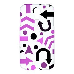 Magenta Direction Pattern Samsung Galaxy S4 I9500/i9505 Hardshell Case by Valentinaart