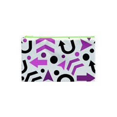 Magenta Direction Pattern Cosmetic Bag (xs) by Valentinaart