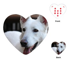 White German Shepherd Playing Cards (Heart)  by TailWags