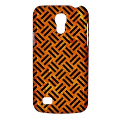 Woven2 Black Marble & Orange Marble (r) Samsung Galaxy S4 Mini (gt I9190) Hardshell Case  by trendistuff