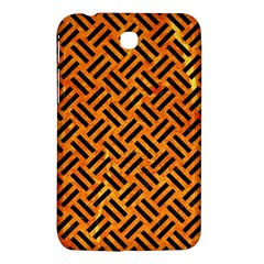Woven2 Black Marble & Orange Marble (r) Samsung Galaxy Tab 3 (7 ) P3200 Hardshell Case  by trendistuff