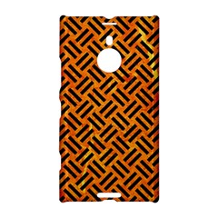 Woven2 Black Marble & Orange Marble (r) Nokia Lumia 1520 Hardshell Case by trendistuff