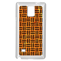 WOV1 BK-OR MARBLE (R) Samsung Galaxy Note 4 Case (White) by trendistuff