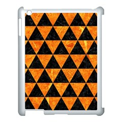 Triangle3 Black Marble & Orange Marble Apple Ipad 3/4 Case (white) by trendistuff
