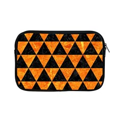 Triangle3 Black Marble & Orange Marble Apple Ipad Mini Zipper Case by trendistuff