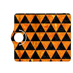 Triangle3 Black Marble & Orange Marble Kindle Fire Hdx 8 9  Flip 360 Case by trendistuff