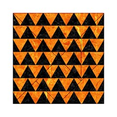 Triangle2 Black Marble & Orange Marble Acrylic Tangram Puzzle (6  X 6 ) by trendistuff