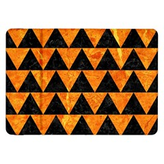 Triangle2 Black Marble & Orange Marble Samsung Galaxy Tab 8 9  P7300 Flip Case by trendistuff