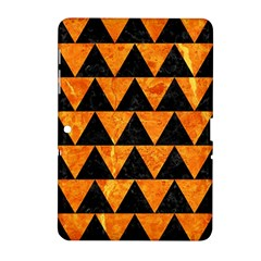 Triangle2 Black Marble & Orange Marble Samsung Galaxy Tab 2 (10 1 ) P5100 Hardshell Case  by trendistuff