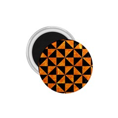 Triangle1 Black Marble & Orange Marble 1 75  Magnet by trendistuff