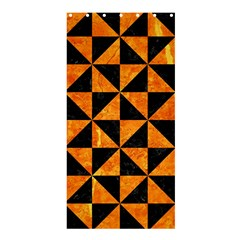 Triangle1 Black Marble & Orange Marble Shower Curtain 36  X 72  (stall)