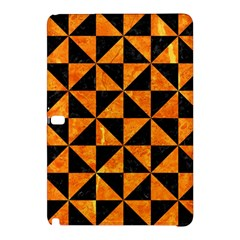 Triangle1 Black Marble & Orange Marble Samsung Galaxy Tab Pro 12 2 Hardshell Case by trendistuff