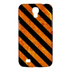 Stripes3 Black Marble & Orange Marble (r) Samsung Galaxy Mega 6 3  I9200 Hardshell Case by trendistuff