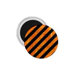 Stripes3 Black Marble & Orange Marble 1 75  Magnet by trendistuff