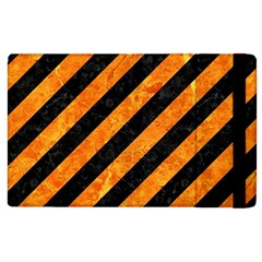 Stripes3 Black Marble & Orange Marble Apple Ipad 2 Flip Case by trendistuff