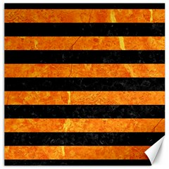 Stripes2 Black Marble & Orange Marble Canvas 20  X 20  by trendistuff