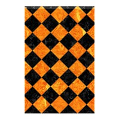 Square2 Black Marble & Orange Marble Shower Curtain 48  X 72  (small) by trendistuff