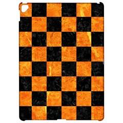 Square1 Black Marble & Orange Marble Apple Ipad Pro 12 9   Hardshell Case by trendistuff
