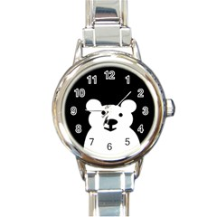 Cute Bear Watch Round Italian Charm Watch by 4893826953