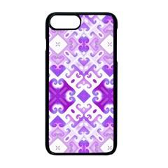 Soft Lavender Swirling Apple Iphone 7 Plus Seamless Case (black)