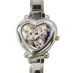 Kitten & Mom Heart Italian Charm Watch