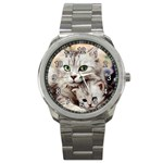 Kitten & Mom Sport Metal Watch