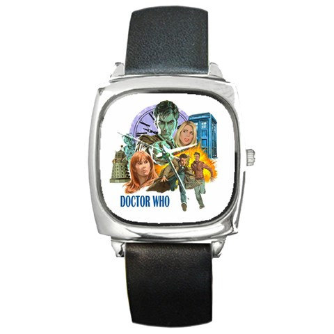 The Doctor By Jen L   Square Metal Watch   F8qntuyv75e9   Www Artscow Com Front