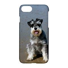 Mini Schnauzer At The Beach Apple iPhone 7 Hardshell Case