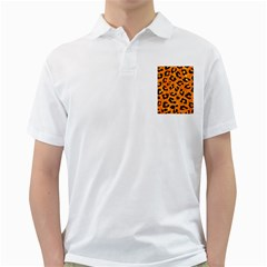 Skin5 Black Marble & Orange Marble Golf Shirt by trendistuff