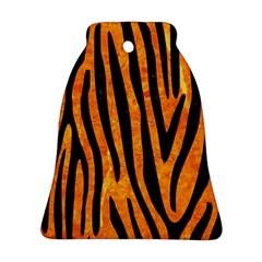 Skin4 Black Marble & Orange Marble Bell Ornament (two Sides) by trendistuff
