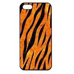 Skin3 Black Marble & Orange Marble (r) Apple Iphone 5 Seamless Case (black) by trendistuff