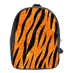 Skin3 Black Marble & Orange Marble (r) School Bag (xl) by trendistuff