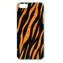Skin3 Black Marble & Orange Marble Apple Seamless Iphone 5 Case (color) by trendistuff