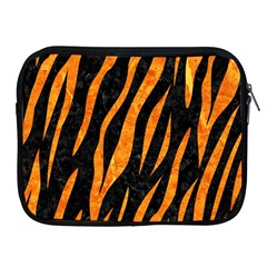 Skin3 Black Marble & Orange Marble Apple Ipad Zipper Case by trendistuff