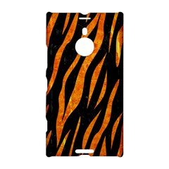 Skin3 Black Marble & Orange Marble Nokia Lumia 1520 Hardshell Case by trendistuff