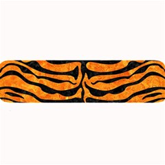 Skin2 Black Marble & Orange Marble (r) Large Bar Mat by trendistuff