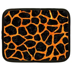 Skin1 Black Marble & Orange Marble (r) Netbook Case (xl) by trendistuff