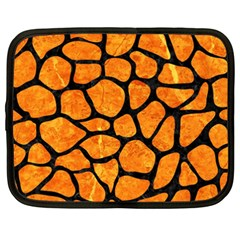 Skin1 Black Marble & Orange Marble Netbook Case (xxl)